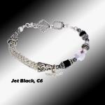 Black C6 Knit Bracelet