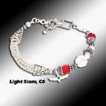 Light Siam C6 Knit Bracelet