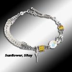 Sunflower Stingray Knit Bracelet