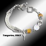 Tangerine Stingray Knit Bracelet
