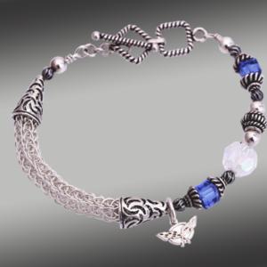.Swarovski knit bracelet