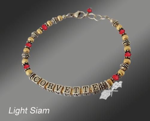 C3 Corvette Swarovski gold-filled bracelet
