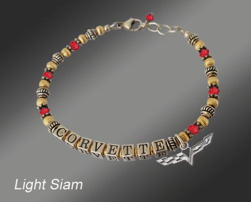 Light Siam C6 Corvette Gold Filled Bracelet