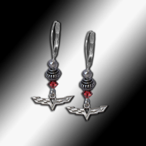 C6 Corvette Swarovski earrings