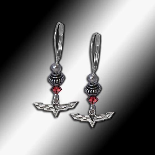 C6 Corvette Swarovski earrings