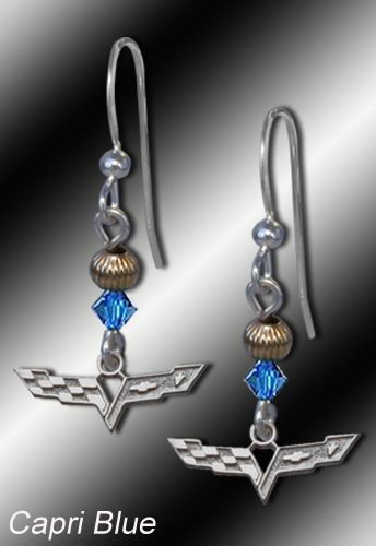 C6 Corvette gold filled earrings