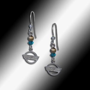 Swarovski bead earrings