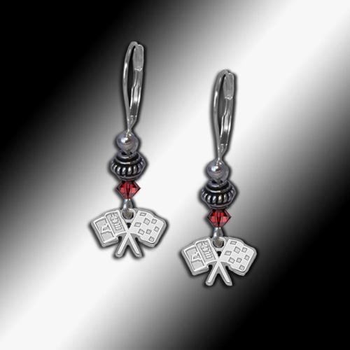 C2 Corvette bead earrings