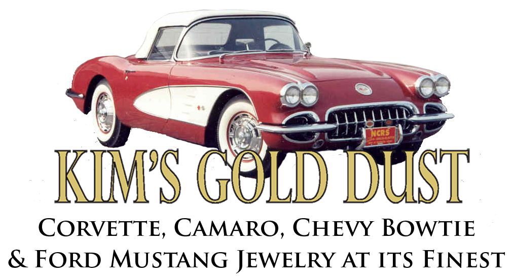 Kims Gold Dust Corvette jewelry & Corvette accessories