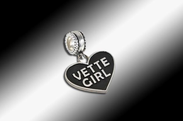 Vette Girl Dangle Charm